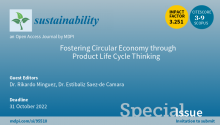 """""""Fostering Circular Economy through Product Life Cycle Thinking"""" (journal Sustainability IF: 3.251, ISSN 2071-1050)"""